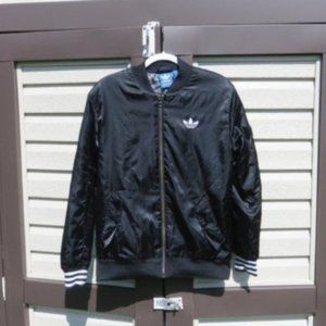 Adidas Lined Bomber Jacket Sz Small